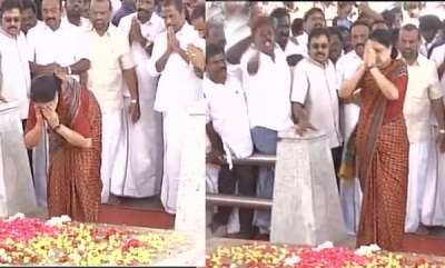 latest-news-chinnammas-oath-at-amma-memorial
