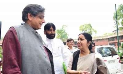latest-news-tharoor-helps-sushma-swaraj-write-resolution-on-jadhav-death-sentence
