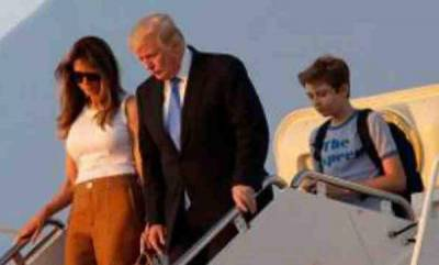 world-after-delay-melania-and-son-barron-join-donald-trump-in-white-house
