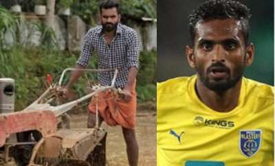 sports-news-ck-vineeth-helping-his-father-with-farming-duties
