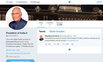 latest-news-ram-nath-kovind-earns-325-million-followers-on-twitter