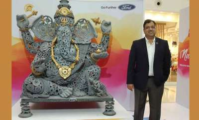 auto-ford-unveils-ganesha-statue-made-of-car-parts