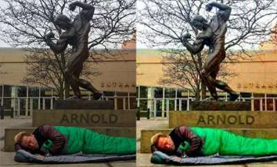 latest-news-arnold-schwarzenegger-sleep-under-his-own-statue-in-california-street