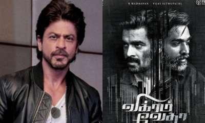 latest-news-shah-rukh-khan-to-remake-vikram-vedha-to-hindi