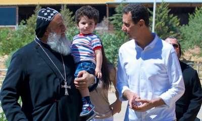 news-visit-of-president-dr-bashar-assad-to-the-holy-cross-monastery