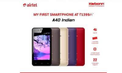 mobile-airtel-takes-on-jio-phone-offers-4g-smartphone-at-effective-price-of-rs-1399