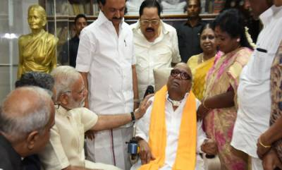 india-modi-meets-dmk-patriarch-karunanidhi