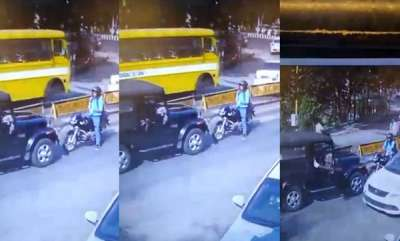 auto-wrong-side-fight-road-rage-mahindra-thar-driver-vs-brave-biker-cctv-footage