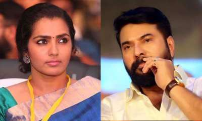 latest-news-actress-parvathy-against-mammootty