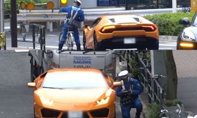 odd-news-japanese-patrol-officer-on-bicycle-chases-and-tickets-lamborghini-driver
