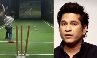 sports-news-junior-kaif-smashing-it-beautifully-through-the-covers-says-sachin