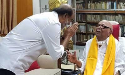 india-rajinikanth-meets-karunanidhi-at-chennai
