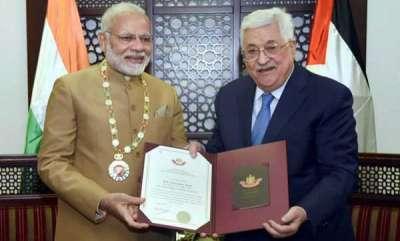 world-pm-modi-conferred-grand-collar-of-the-state-of-palestine