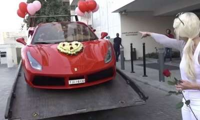 latest-news-video-dubai-expat-gets-1000-roses-ferrari-for-valentines-day