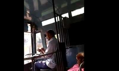 latest-news-ksrtc-driver-suspended-for-careless-driving
