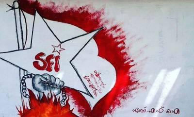 latest-news-sfi-attack-abvp-in-front-police-station
