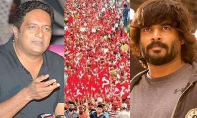latest-news-prakash-raj-and-r-madhavan-support-farmer-long-march