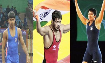 india-sushil-and-aware-strike-gold-babita-settles-for-silver