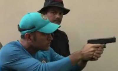 sports-news-ms-dhoni-shooting-practice
