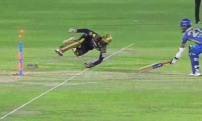sports-news-dinesh-karthiks-brilliant-stumping-of-ajinkya-rahane-in-ipl