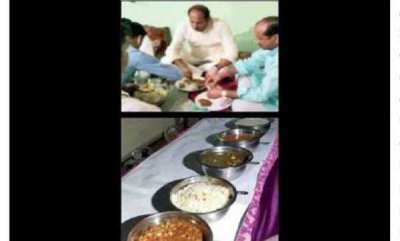 latest-news-bjp-minister-eats-at-dalit-house-but-orders-food-from-eatery