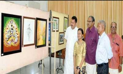 latest-news-painting-exibition-of-vs-aiswary-at-tvm-musium-hall-ingurtion-k-murlidharn-mla