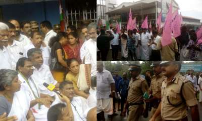 latest-news-kevins-death-opposition-parties-protest-in-front-of-gandhinagar-police-station