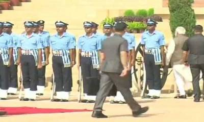 india-take-care-of-your-health-pm-to-airman-who-fainted-during-guard-of-honour-ceremony