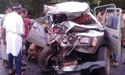 kerala-5-died-in-a-truck-jeep-collision-in-kasargod