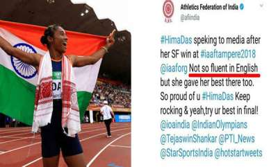 india-hima-das-creates-history-but-federations-tweet-on-hima-dass-english-skills-shocks-people