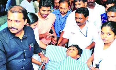 latest-news-maharajas-college-student-arjun-leaves-hospital