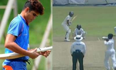 latest-news-arjun-tendulkar-out-for-a-duck-in-debut-under-19-match
