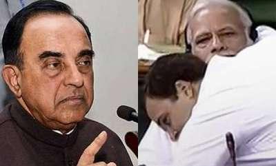 latest-news-subramanian-swamy-allges-attempt-to-poison-modi-behind-rahuls-hug