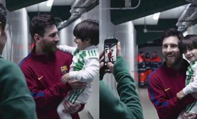 sports-news-lionel-messi-meets-rival-players-son-after-barcelona-game-in-beautiful-video