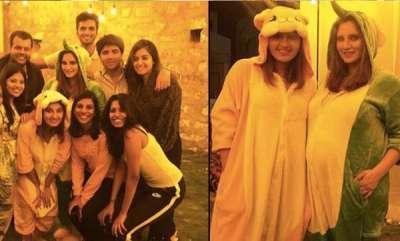 latest-news-sania-mirza-in-pajama-party