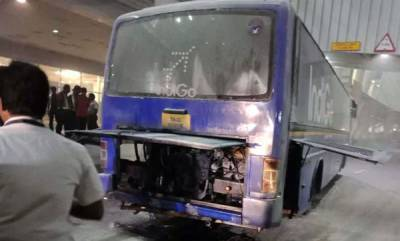 india-indigo-bus-catches-fire-passengers-rescued
