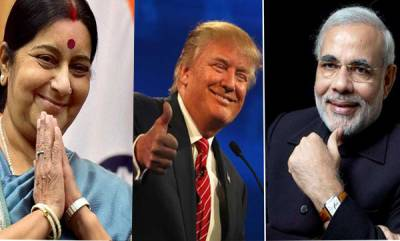 world-i-love-india-give-my-regards-to-my-friend-pm-narendra-modi-donald-trump-greets-sushma-swaraj