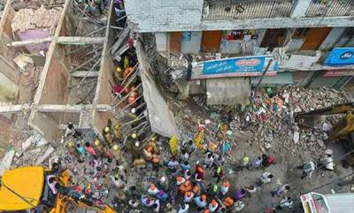 india-four-children-killed-in-building-collapse-in-northwest-delhi