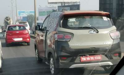 auto-mahindra-kuv100-nxt-amt-spotted-testing
