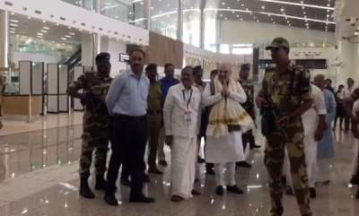 latest-news-amith-shahs-video-from-kannur-airport-goes-viral