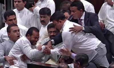 latest-news-lankan-mps-fight-in-parliament