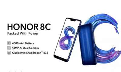 mobile-honor-8c-launch-india-on-november-29