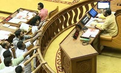 kerala-kerala-assembly-disrupts-for-a-third-consecutive-day
