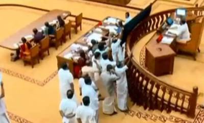 kerala-opposition-disrupts-kerala-assembly-over-sabarimala-issue