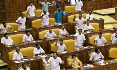 kerala-kerala-assembly-adjourned-amidst-protest