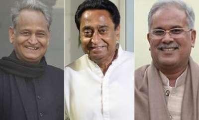 india-kamal-nath-ashok-gehlot-and-bhupesh-baghel-to-take-cm-oath-today