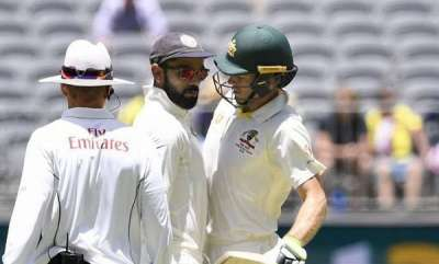sports-news-perth-test-tensions-flare-up-on-day-4-as-virat-kohli-sledges-tim-paine