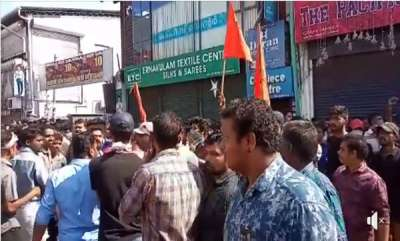 kerala-clashes-at-kozhikode-after-traders-opened-shops