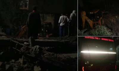 india-5-trapped-as-4-storey-building-collapses-in-gurugram-rescue-operations-underway