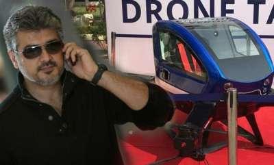 auto-actor-ajith-and-drone-taxi